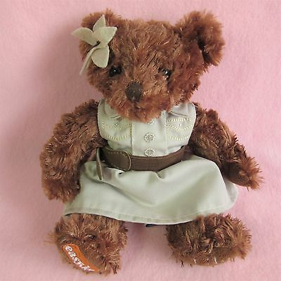 "Easyjet Lily Safari Bear brown teddy explorer souvenir 9"" plush dress Easy Jet"