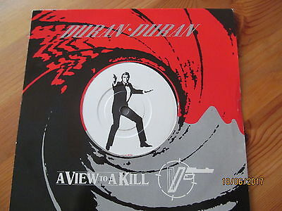 "Duran Duran 7"" Vinyl Single - View to a KIll - James Bond 007"