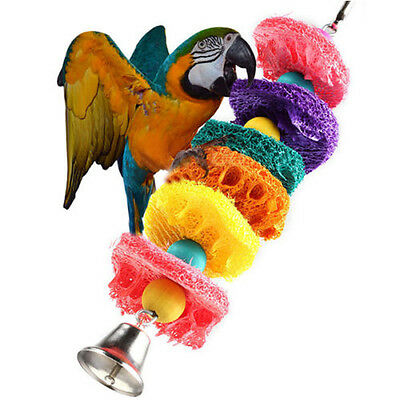 BIRD TOY parrot cage toys cages cockatoo conure Loofah Sponge Bite-resistant