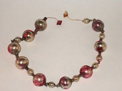 Glass Figural Bead Garland String German Antique Christmas Ornament 1930's