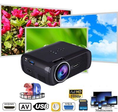 7000 Lumens HD 1080P LED Mini Portable Projector Multimedia Home Theater Cinema