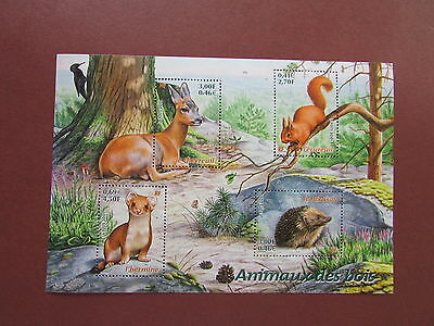 timbre france neuf y&t bloc 36 nature de france faune 2001