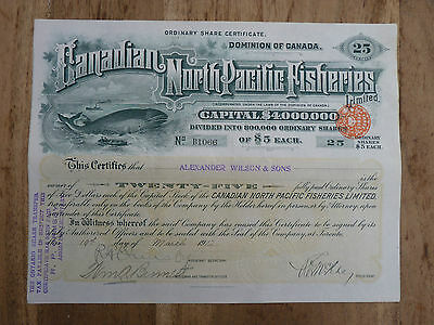 Canadian North Pacific Fisheries Limited. 1912 !