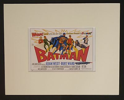 BATMAN - 6 x MOUNTED CARDS READY TO FRAME - 8 X 10 - ADAM WEST - 60's CULT TV
