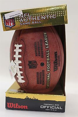 BNIB WILSON Whitney Mercilus Signed NFL Football The Duke Authentic Game Ball
