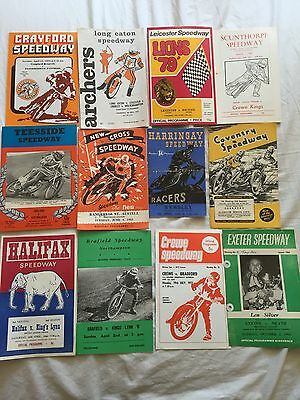DEFUNCT  TRACK    SPEEDWAY  PROGRAMMES  x  12  FROM  1948  ONWARDS