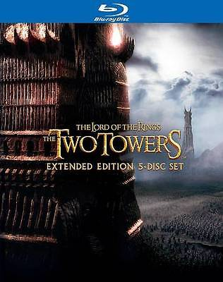 #8 LORD OF THE RINGS TWO TOWERS Extended New Sealed Blu-Ray Set FREE SHIPPING