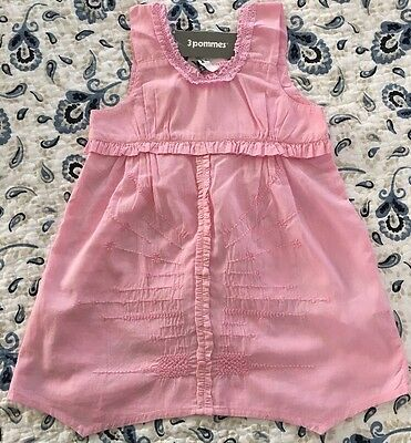 3 Pommes girls Boutique Pink 100% Cotton tunic top size 8 A Youth New NWT