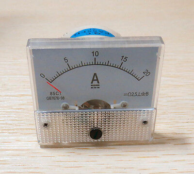 DC 20A Ammeter 85C1 Mechanical Analog Panel Meter current measuring DC 0-20A