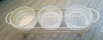 silver plated relish tray