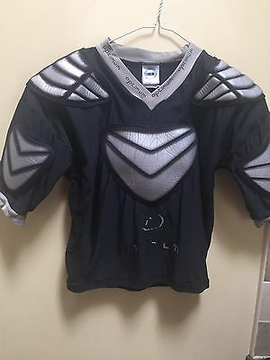 Optimum Silver And Black Sports Body Armour - Size Small
