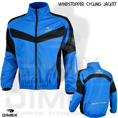 Fahrradjacke Windstopper Vlies Thermal Winter Windfest Langärmlig BLAU