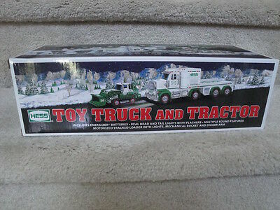 "MIB 2013 Hess Toy Truck And Tractor  Battery Operated ""WOW"""