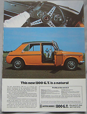 1970 Austin & Morris 1300 GT Original advert No.2