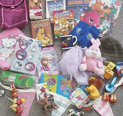 Mixed Job Lot Car Boot Bundle Of Items, Small Toys, Frozen, Dvds & More #2