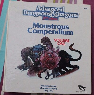 MONSTROUS COMPENDIUM 1 + DIVIDERS (AD&D) TSR Dungeons and Dragons