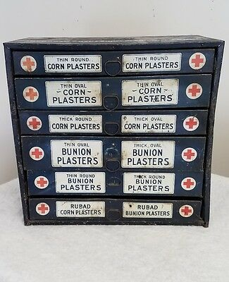 1930's Johnson & Johnson Corn & Bunion Bandage Advertising Tin Medical Cabinet