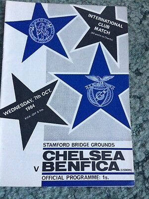 1964...CHELSEA v BENFICA....(Friendly)......Football Programme