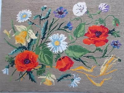 "BARGAIN Vintage Tapestry By Royal of Paris Depicting ""Flowers"" 18.5"" x 14"""