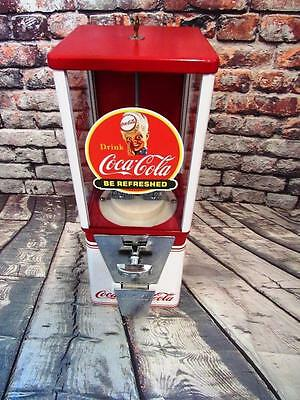 candy machine Coca cola gumball  peanuts machine coke memorabilia