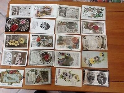 20 vintage birthday cards, all posted early 1900's
