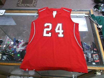 Russell Athletic Women's Basketball Jersey #24 Size Medium Red #7791