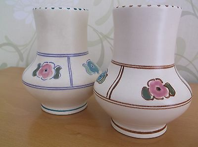 Honiton Vases.  Made in England 1940's. Very Nice Condition.  Pair