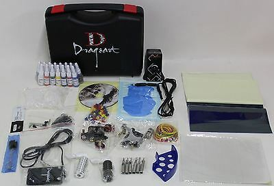 BNIB DRAGONART TKP-D2-2 Complete Tattoo Kit 2 Machine Set w/15 Colour Inks