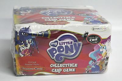 NEW ENTERPLAY My Little Pony Card Game Canterlot Nights Booster 36 Pack Case