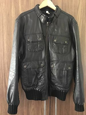 Mens asos Leather Jacket Size L