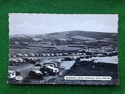 Croyde     Burrows Mead Caravan Site     Devon    Rp    Vintage Postcard