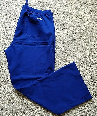 Women's Grey's Anatomy Scrub Pants Size XL Blue Drawstring  EUC