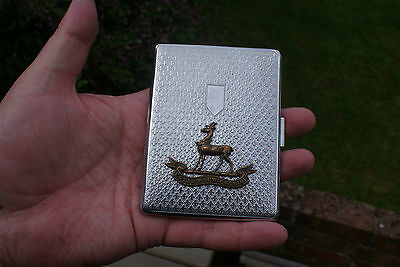 Royal Warwickshire Regiment Cigarette Case by Har-Bro English