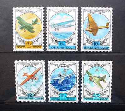 SOVIET UNION RUSSIA 1978 Early Aircraft. Set of 6. Mint Never Hinged SG4791/4796