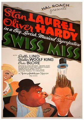 9.5mm Sound film T.9698 :  Laurel and Hardy Swiss Miss 1938 all 9 Reels 2,600 ft