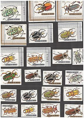 Burundi Stamps Scott 306 - 321 C110-18 Complete Beetle Set MNH