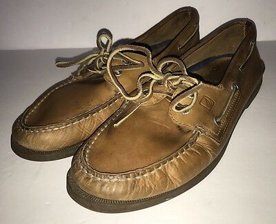 Men's SPERRY Top Sider SAHARA 0197640 Brown Leather Boat Shoes Size 11.5