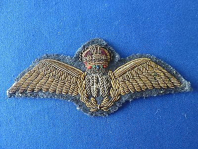 Ww2 Raf Bullion Officers Pilots Wings Full Size
