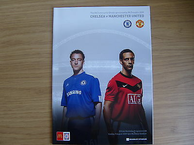 2009 CHARITY SHIELD  CHELSEA v MANCHESTER UNITED    VGC