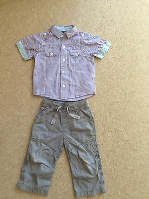 Boys Shirt And Trousers Age 12-18 Months