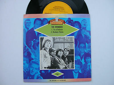 """The Monkees, I'm A Believer / Monkees Theme, 7"""" Vinyl Single, Old Gold Label"""