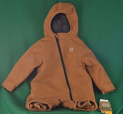 NWT Carhartt Infant Toddler Brown Quick Duck Outerwear Snowsuit Size 12m