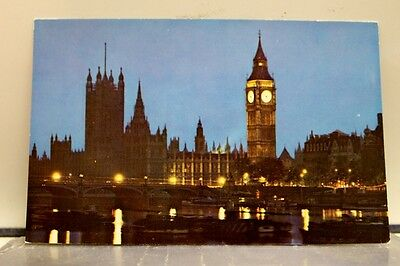 United Kingdom UK Houses of Parliament England Postcard Old Vintage Card View PC