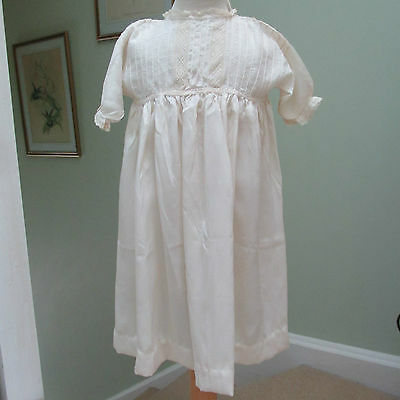 Antique/victorian Fine Silk & Lace Child's Dress