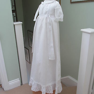 "ANTIQUE/EDWARDIAN  LACE CHRISTENING GOWN ""SUPREME"" Trade Mark"