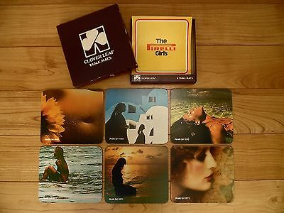 60s/70s PIRELLI CALENDAR PLACE MATS, Vintage DINING TABLE, Retro GIRLIE PICTURES