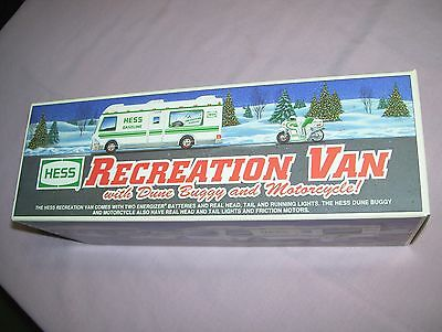 1998 Hess Toy Recreation Van Dune Buggy Motorcycle in Box Never played with NIB
