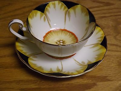 "Vintage Victoria C&E Bone China England ""Jonquil"" Hand Painted Cup and Saucer"