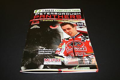PETERBOROUGH v SHEFFIELD SGB CHAMPIONSHIP SPEEDWAY PROGRAMME 18/6/2017