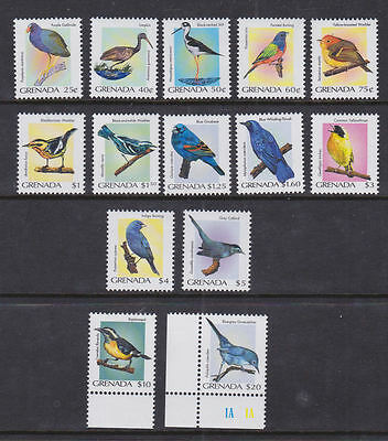 Grenada 2000 Mint MLH Full Set Definitives Birds 14 values Gnatcatcher Bunting